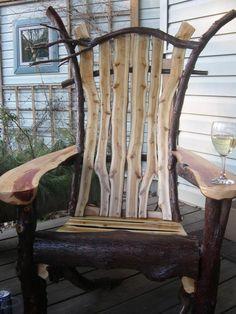 Artist's Adirondack - branch slices