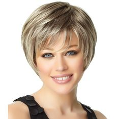 Deluxe - With a full crown and sides that blend into a short, layered nape, this easy-care short bob cut includes a monofilament crown for a natural contour. Find this style & more @ thewigcompany.com