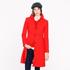 JCrew Double-cloth lady day coat with Thinsulate®