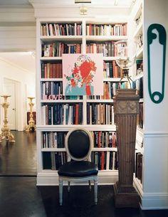{art on bookshelves}