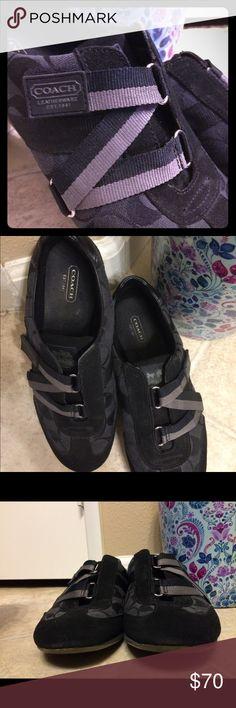 Coach 👟DONATING SATURDAY Black Coach sneakers EUC LAST DAY ON POSH! DONATING SATURDAY Coach Shoes Sneakers