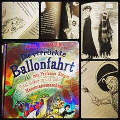 #jedentageinbuch Es gibt Bücher in die verliebt man sich einfach und in dieses habe ich mich restlos verliebt. Immer wieder nehme ich es zur Hand. *seufz* Neil Gaiman trifft auf Chris Riddell...  das ließe sich nur noch toppen, wenn riddle mal die scheibenwelt illustriert.  #illustration #buch #bücher #bookstagram #kinderbuch #neilgaiman #chrisriddell #musthave #fantasy #ballonfahrt #zeitreise #vampire #halloween