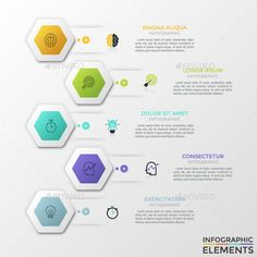 Modern Infographic Process Template #info #concept  • Download here → https://graphicriver.net/item/modern-infographic-process-template/21217349?ref=pxcr