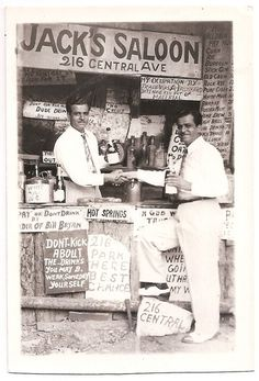 Hot Springs Arkansas, Jack's Saloon, 216 Central Avenue, old photo postcard souvenir