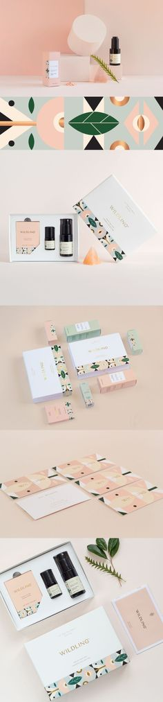 A full-service creative studio. : Kati Forner graphic design for Wildling beauty natural line. This branding is BEAUTIFUL! Game Design, Web Design, Logo Design, Creative Studio, Creative Business, Corporate Design, Business Card Design, Business Cards, Packaging Design Inspiration