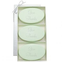 Personalized Give Thanks, Signature Spa: 3 Bar Soap Gift Set