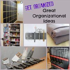 Get organized today - great organization ideas!