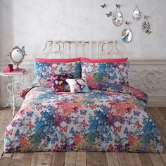 Butterfly Home by Matthew Williamson Designer blue 'Fantasy Butterflies' bedding set- at Debenhams Mobile