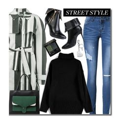 """""""Street Style"""" by beebeely-look ❤ liked on Polyvore featuring Etienne Deroeux, Gucci, Aspinal of London, StreetStyle, striped, sammydress, Gogreen and streetwear"""