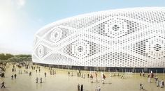 El diseño del más reciente estadio de Qatar 2022 se inspira en un gorro árabe,Cortesía de Comité Supremo de Entrega y Legado