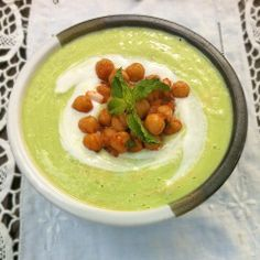 The Recipe ReDux: Cucumber Avocado Soup with Moroccan Chickpeas | Teaspoon of Spice - DailyBuzz Food