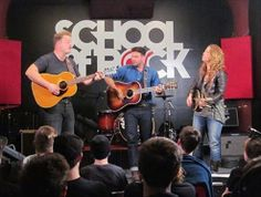 Professional musicians frequently stop by School of Rock to jam with us. Here's The Lone Bellow at St Paul School of Rock.