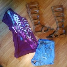 Rose Brown Neon Aztec Print Top Brand new with tags neon aztec print top perfect for summer festivals Tops