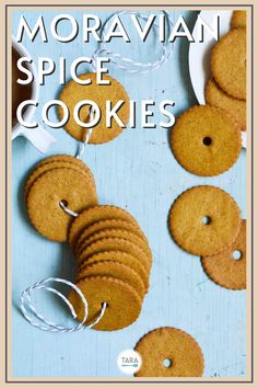 Thin and crispy Moravian spice cookies are a delightful Christmas cookie. Make them with honey and six different spices for a fun flavor.