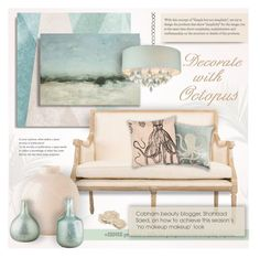 """""""35 / Decorate with Octopus"""" by monazor ❤ liked on Polyvore featuring interior, interiors, interior design, home, home decor, interior decorating, NDI, Sandberg Furniture, Ballard Designs and Pier 1 Imports"""