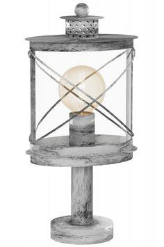 """Artikel 11109 Fraaie, sfeervolle, staande buitenlantaarn welke aansluit bij een Riviera Maison stijl! Deze buitenlamp is gemaakt van gegalvaniseerd staal en uitgevoerd in een grijs/ witte kleur. Deze staande lamp heeft een antieke, zilveren uitstraling en komt vintage over. Het """"glas"""" is gemaakt van helder kunststof.  http://www.rietveldlicht.nl/artikel/buitenlamp-11109-eigentijds_klassiek-landelijk-rustiek-grijs-zilvergrijs-zilver_-oud_zilver-metaal-lantaarn"""