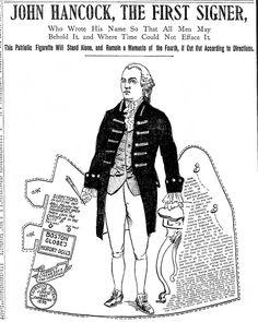 boston globe historical doll john hancock