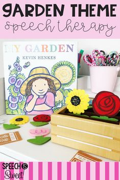 Garden theme for speech therapy! This blog post shares picture books and ideas for comprehension, WH Questions, sequencing, and more! There are also resources for articulation! This is a wonderful theme for spring or summer speech-language therapy! #speechtherapy