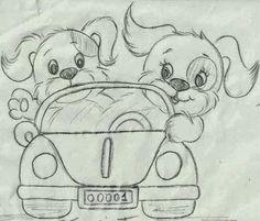 carrinho com cachorros