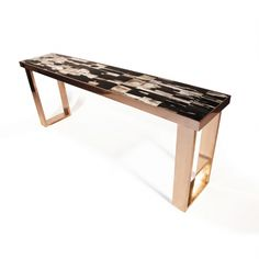 www.hudsonfurnitureinc.com PETRIFIED WOOD CONSOLE    Design by Barlas Baylar  Petrified Wood Top