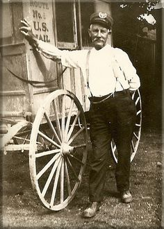 Mail Carrier in the 1800's.  Brought letters and news and helped make America united through the best and worst of times.