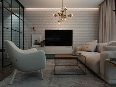interior design of a small apartment, 40 square meters on Behance