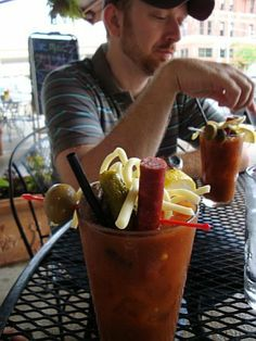 World's Best Bloody Mary!!!! in downtown Milwaukee. Killer Bloody Mary for sure...