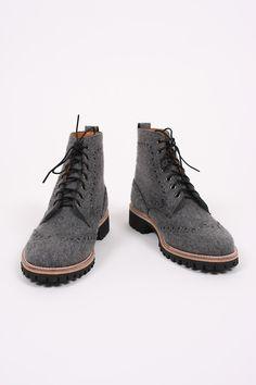 TS(S)   Felt Wingtip Work Boots