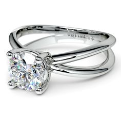 Comfortable as well as stylish, the Cross Split Shank Diamond Solitaire Ring in White Gold exudes classy, understated elegance. A fitting present for your one and only!  http://www.brilliance.com/engagement-rings/cross-split-shank-solitaire-ring-white-gold
