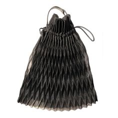 Issey Miyake Pleated Evening Bag | From a collection of rare vintage handbags and purses at http://www.1stdibs.com/fashion/accessories/handbags-purses/