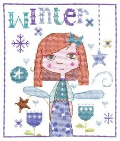 Winter Fairy Fairy 'winter themed' cross stitch kit designed by The Stitching Shed. Contents: 14 count white aida fabric, pre-sorted Anchor threads, chart, needle and full instructions. Size: x *Usually dispatched within 5 working days* Cross Stitch Fairy, Cute Cross Stitch, Cross Stitch Kits, Bothy Threads, Anchor Threads, Heritage Crafts, Winter Fairy, Winter Theme, Stitching