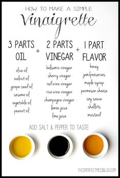 How to Make a Simple Vinaigrette: The Salad Dressing Formula that Will Change Your Life Vinegar Salad Dressing, Vinaigrette Dressing, Salad Dressing Recipes, Salad Dressings, Snack Recipes, Cooking Recipes, Cooking Hacks, Snacks, Healthy Cooking