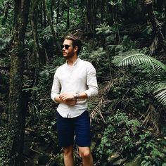 Today's rainforest ensemble: linen on linen #PuertoRico