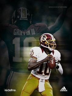 Robert Griffin III (RG3), Washington Redskins @ designingsport.com