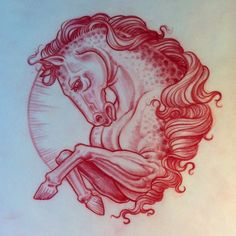 .@Jason Stocks-Young Stocks-Young Stocks-Young Stocks-Young Minauro | Evening sketch. horse tattoo