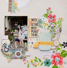 #papercraft #scrapbook #layout  Simple Stories Homespun layout by geekgalz @2peasinabucket
