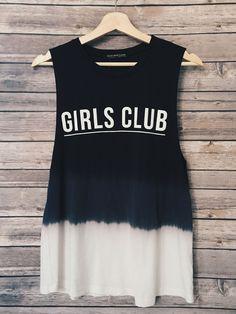 Girls Club Tye Dye Tank (Black)
