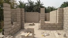 "The Making Of The ""Anambra 5 Bedroom Duplex"" - Properties - Nigeria Model House Plan, House Plans, Concrete Block Foundation, Stone Driveway, House Construction Plan, Duplex House Design, Living Room Windows, Eye Tutorial, Iron Work"