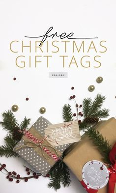 Give your gifts an inspirational touch with these printable gift tags. #LDS