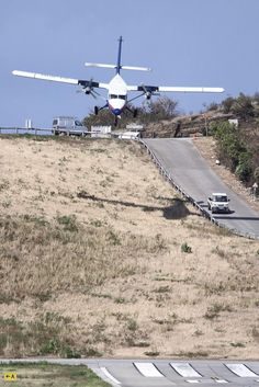 Saint-Jean Gustaf III Airport, the airport of Saint Barthélemy Island in the Caribbean. Into the abbyss - PJ de Jong