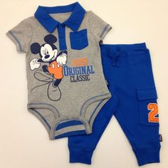 MICKEY MOUSE Disney Cuddly Bodysuit™ and Pant Set
