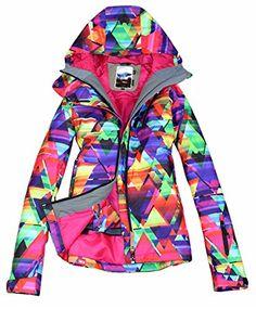 6b8d54d678 APTRO Women s High Windproof Snow Coat Technology Colorfull Printed Ski  Jacket  Amazon.co.uk  Sports   Outdoors