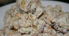 White Trash recipe we have been making this for years so far have not met anyone who does not love it (chex mix recipes sweet) Chex Mix Recipes, Candy Recipes, Holiday Recipes, Snack Recipes, Dessert Recipes, Cooking Recipes, Holiday Desserts, Appetizer Recipes, Party Appetizers