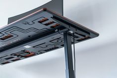 This circuit board desk integrates a cabling solution to give you the ultimate wire-free desk setup! | Yanko Design Printed Circuit Board, Red Dot Design, Cable Organizer, Mac Mini, Wifi Router, Yanko Design, Desk Setup, Mindful, Design Trends