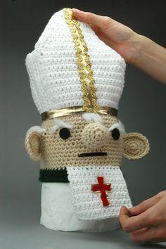CUSTOM Toilet Poper The Papal Toilet Paper Cozy by croshame