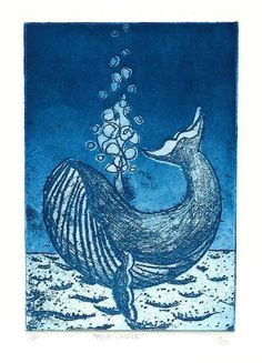 blue whale etching