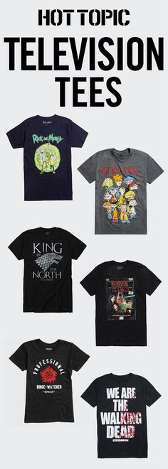 Tees from your fave TV shows!
