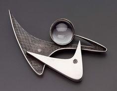Margaret De Patta. Sterling silver and quartz. ca. 1950 USA