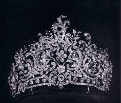 Rococo diamond tiara of the Royal Family of Wurttemberg.