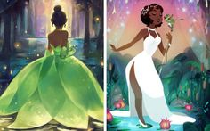 Black Girl Cartoon, Black Girl Art, Black Women Art, Art Girl, Disney Princess Tiana, Disney Princesses, Princess Merida, Princess Party, Tiana And Naveen